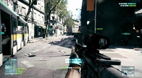 Battlefield 3: Paris Muitplayer gameplay