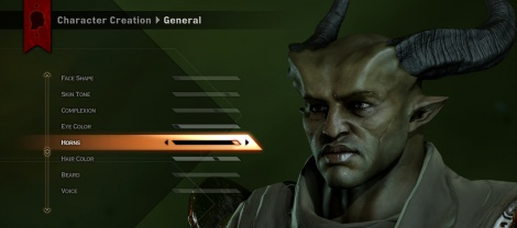 Dragon Age shows character creation