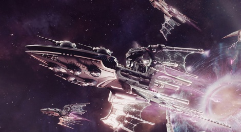 Eldars fleet strikes in Battlefleet Gothic: Armada