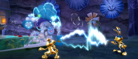 Epic Mickey 2 depicts inkwells