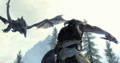 First gameplay trailer of TES V Skyrim