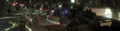 Four screenshots of Halo ODST