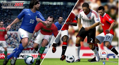 GC: Impressions on PES and Fifa