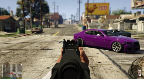 GTAV in first person view video