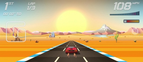 Horizon Chase shows gameplay