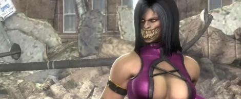 MK: Mileena bares one's teeth