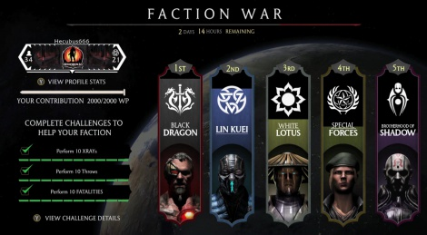 Mortal Kombat X talks Faction Wars