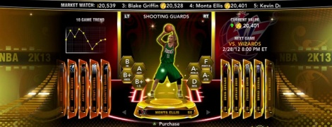 NBA 2K13 introduces MyTeam mode