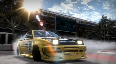 Need for Speed: Shift drifts in video