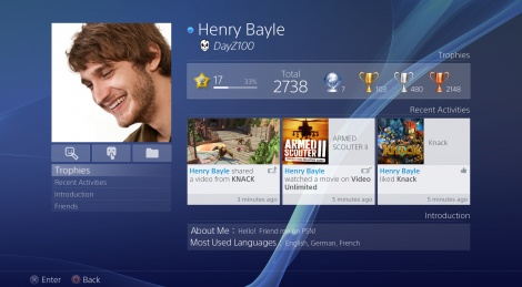 PlayStation 4 User Interface overview