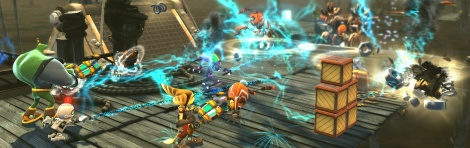 Ratchet & Clank: All 4 One screens