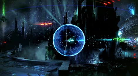 Resogun shows various levels
