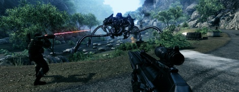 Screens of Crysis console