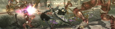 TGS09: Bayonetta PS3 gameplay