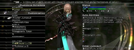 The combat system of LR FFXIII